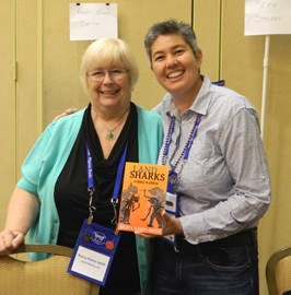 Nancy and Lisa at Bouchercon Booksigning
