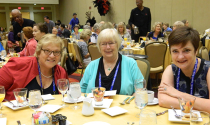 Susan Bickford, Nancy Raven Smith and Marla Cooper at Bouchercon 2016