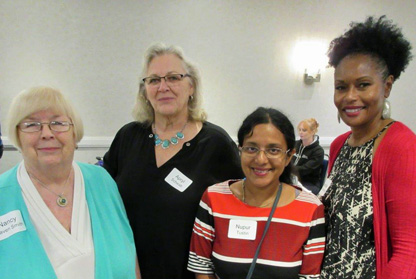 Nancy, Apryl, Nupur, and Pamela at MWA