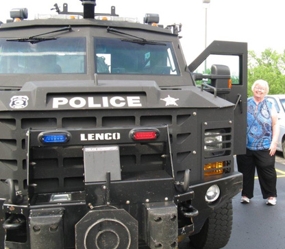 SWAT Vehicle at Writers Police Academy
